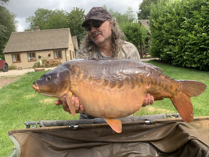 Paul Mitchell with the stunning Mirror known as 'The Pretty One' at 39-12