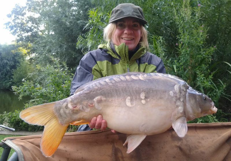 Mum Sophie also got into the action with  this lovely 15lb Mirror