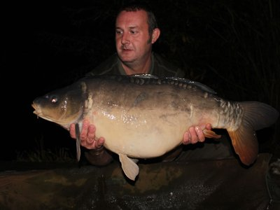 Steve Keen with his new Cherry Springs Lake record, a 30-12