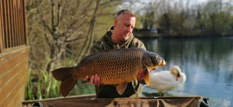 Stuart Crafer with a lovely 23lb Common