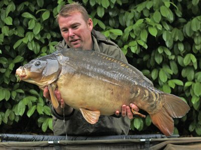 Terry Lambert with a 31-08 Cherry Lake Mirror from the Cottage. The second of a nice brace of thirties!.