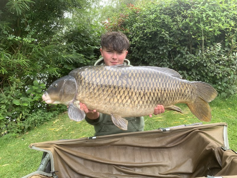 Tom Nixon-Taylor with his new Pb, 'The Patch' at 42-12