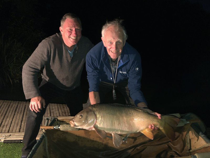 Craig Gascoyne with his PB, a 27lb Mirror from Cherry Springs